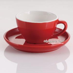 tách sứ cappuccino yami màu đỏ