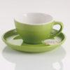 tách sứ cappuccino yami màu xanh lá