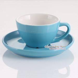 tách sứ cappuccino yami mau xanh dương
