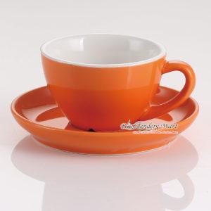 tách sứ cappuccino yami 2062 màu cam