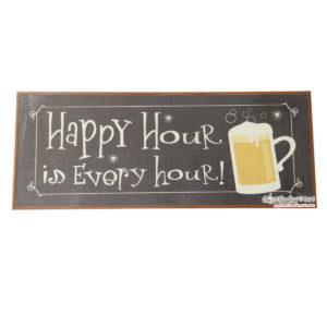 Tranh Gỗ Hình Ly Bia Happy Hour