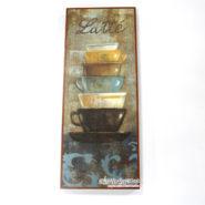 Tranh Gỗ Hình Ly Cafe Latte