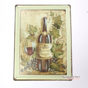 Tranh inox Hình Chai Rượu Nho Cabernet Sauvignon