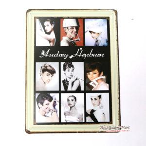 Tranh inox Hình Nữ Diễn Viên Audrey Hepburn