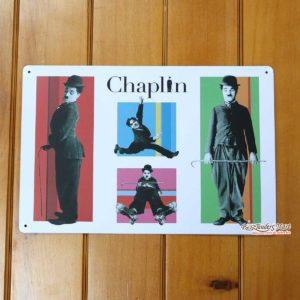 Tranh inox Hình Diễn Viên Hài Charlie Chaplin 03