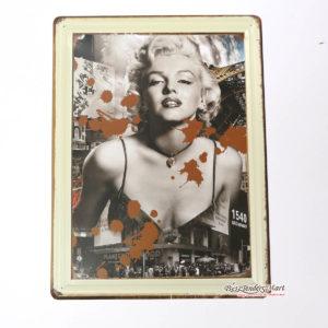 Tranh inox Hình Nữ Diễn Viên Marilyn Monroe