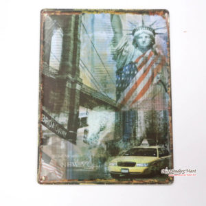 Tranh inox Hình Tượng Nữ Thần Tự Do Mỹ