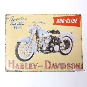 tranh inox hình xe Harley Davidson trang trí