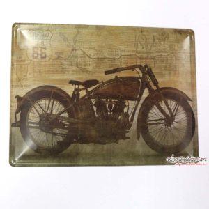 Tranh inox Hình Xe Moto Trang Trí