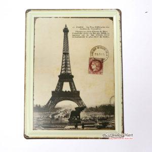 Tranh inox Vintage Tháp Eiffel Paris