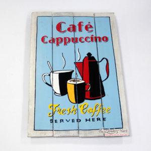 tranh sơn gỗ cafe cappuccino