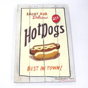 Tranh Sơn Gỗ Hot Dogs