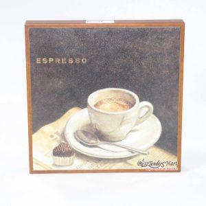 Tranh Trang Trí Hình Ly Cafe Espresso Bằng Gỗ