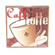 Tranh Trang Trí Hình Ly Cafe Latte Bằng Gỗ