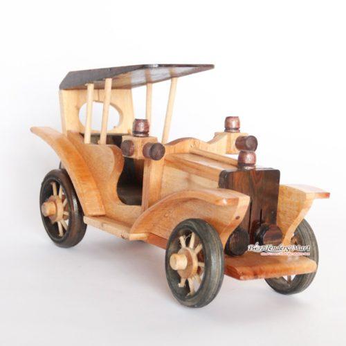 xe antique trang tri bang go